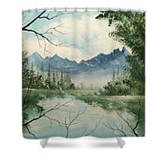 Misty View Shower Curtain