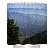 Misty Virginia Morning Shower Curtain by Teresa Mucha