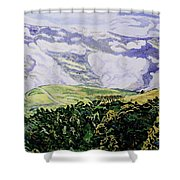 Misty Vumba Shower Curtain