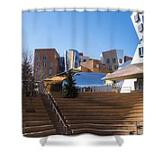 Mit Stata Center Cambridge Ma Kendall Square M.i.t. Staircase Shower Curtain