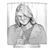 Mitch Hedberg In His Own Jokes Shower Curtain