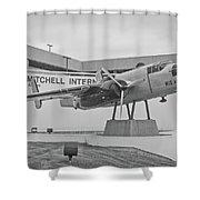 Mitchell International Airport Shower Curtain