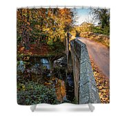 Mitford Bridge Over River Wansbeck Shower Curtain
