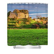 Mitford Castle Beside River Wansbeck Shower Curtain