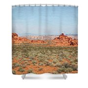 Mix Media Valley Of Fire  Shower Curtain