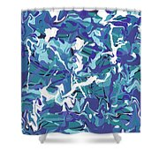 Mix Of Blues Shower Curtain
