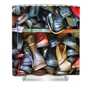 Mix Of Shoes Nyc Shower Curtain
