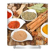 Mix  Of Spices Shower Curtain