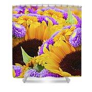 Mixed Autumn Flowers Shower Curtain