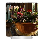 Mixed Basket, Balcony Garden, Hunter Hill, Hagerstown, Maryland, Shower Curtain