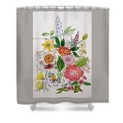 Mixed Floral. Shower Curtain