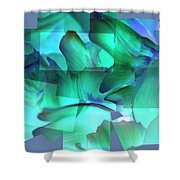 Mixed Greens Shower Curtain
