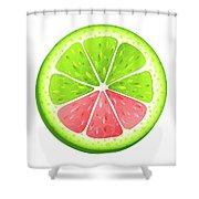 Mixed Lemon Shower Curtain