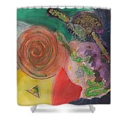 Mixed Media Abstract 15-c11  Shower Curtain
