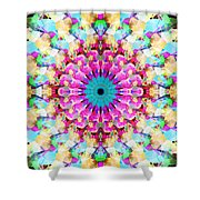 Mixed Media Mandala 9 Shower Curtain