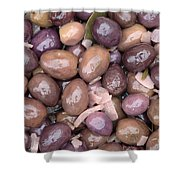 Mixed Olives Shower Curtain
