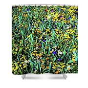Mixed Wildflowers In Texas Shower Curtain