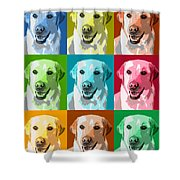 Golden Retriever Warhol Shower Curtain