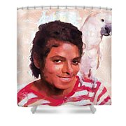 Mj And Polly Shower Curtain