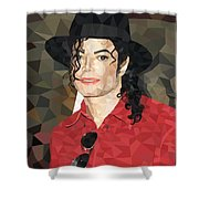 Mj Low Poly Shower Curtain
