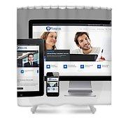 Mjollnir Group Inc - Responsive Website Shower Curtain