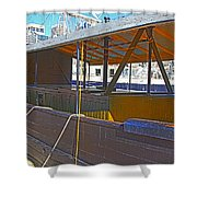 Mv  Krait In Darling Harbour Sydney Shower Curtain