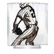 Mlb The Pitcher Shower Curtain