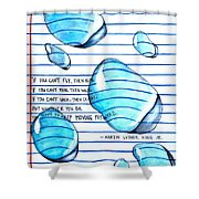 Mlk Love Note Shower Curtain