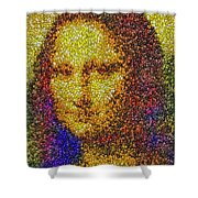 Mm Candies Mona Lisa Shower Curtain