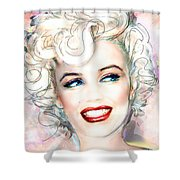 Mmother Of Pearl P Shower Curtain