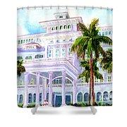 Moana Surfrider Hotel On Waikiki Beach #206 Shower Curtain