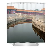 Moat Forbidden City Beijing Shower Curtain