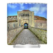 Moat House Leeds Castle Shower Curtain by Chris Thaxter