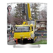 Mobile Crane Shower Curtain