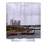 Moving Skyline Shower Curtain