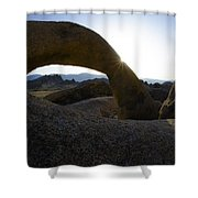 Mobius Arch Alabama Hills California 2 Shower Curtain