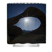 Mobius Arch Alabama Hills California 3 Shower Curtain