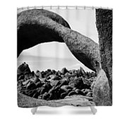 Mobius Arch View Alabama Hills Shower Curtain