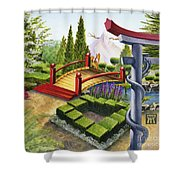 Mobius Gardens Shower Curtain