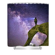 Mobius Milky Way Shower Curtain