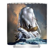 Moby Dick 1 Shower Curtain