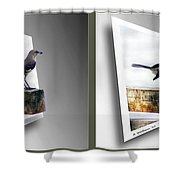 Mockingbird - Gently Cross Your Eyes And Focus On The Middle Image Shower Curtain
