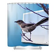 Mockingbird Branch Shower Curtain