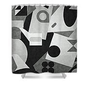 Mod, Grayscale Shower Curtain