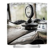 Model A Ford Hood Ornament Shower Curtain