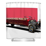 Model A Ford Limousine Shower Curtain