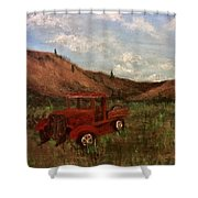 Model A Ghost Town Truck  Shower Curtain