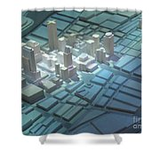 Model City 2 Shower Curtain