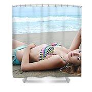 Model Kaitlynn 154 Shower Curtain