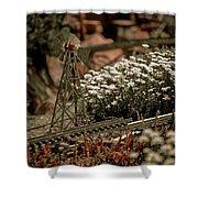 Model Railroad Windmill Shower Curtain
